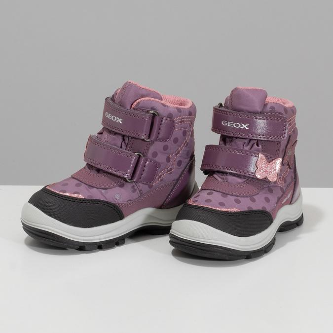 Fialová dětská zimní obuv na suché zipy geox, fialová, 199-5136 - 16