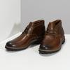 Pánská kožená hnědá kotníčková obuv clarks, hnědá, 846-4830 - 16
