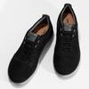 Pánské černé tenisky z broušené kůže geox, černá, 846-6815 - 16