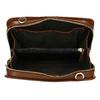 Hnědá dámská kožená Crossbody kabelka royal-republiq, hnědá, 964-4353 - 15