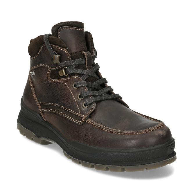 Kožená pánská hnědá zimní obuv bata, hnědá, 896-4753 - 13