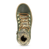 Kožená dětská zelená kotníčková obuv mini-b, zelená, 423-7608 - 17