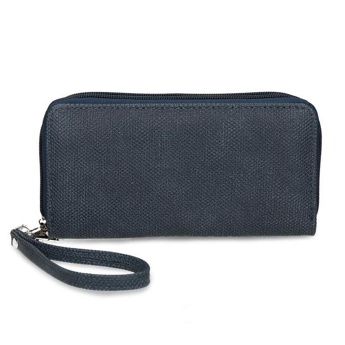 Dámská modrá peněženka na zip bata, modrá, 941-9618 - 26