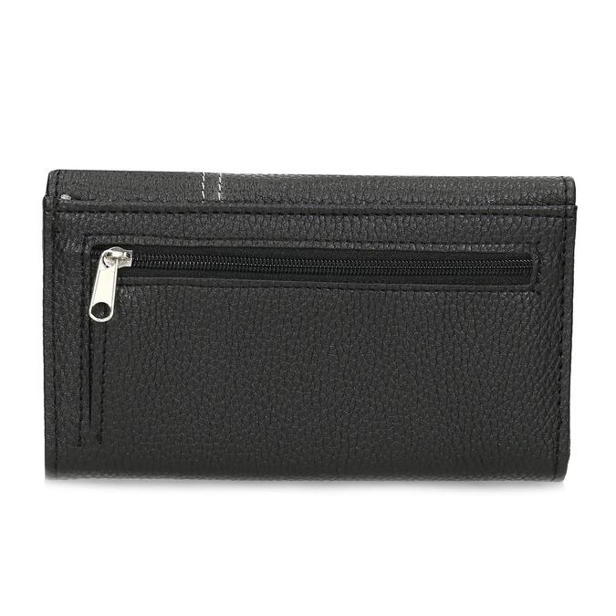 Černá dámská peněženka s prošitím bata, černá, 941-6620 - 16