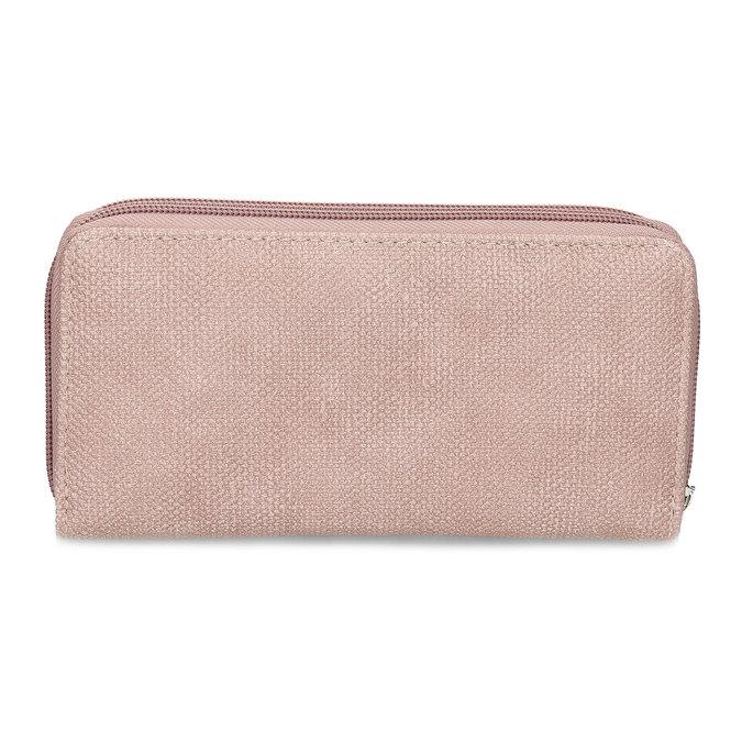 Dámská růžová peněženka na zip bata, růžová, 941-5618 - 16