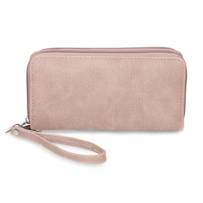 Dámská růžová peněženka na zip bata, růžová, 941-5618 - 26