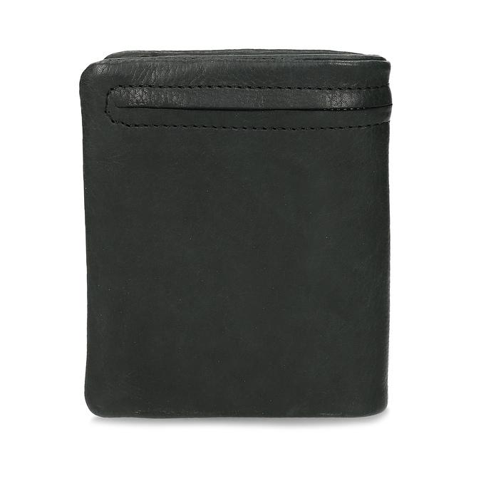 Černá pánská kožená peněženka bata, černá, 944-6619 - 16