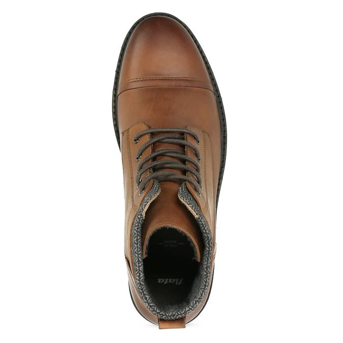 Hnědá pánská kožená kotníčková obuv bata, hnědá, 896-3764 - 17