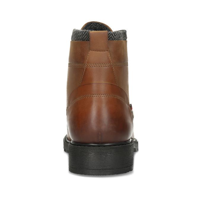 Hnědá pánská kožená kotníčková obuv bata, hnědá, 896-3764 - 15