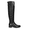 Černé dámské kožené vysoké kozačky bata, černá, 594-6623 - 19
