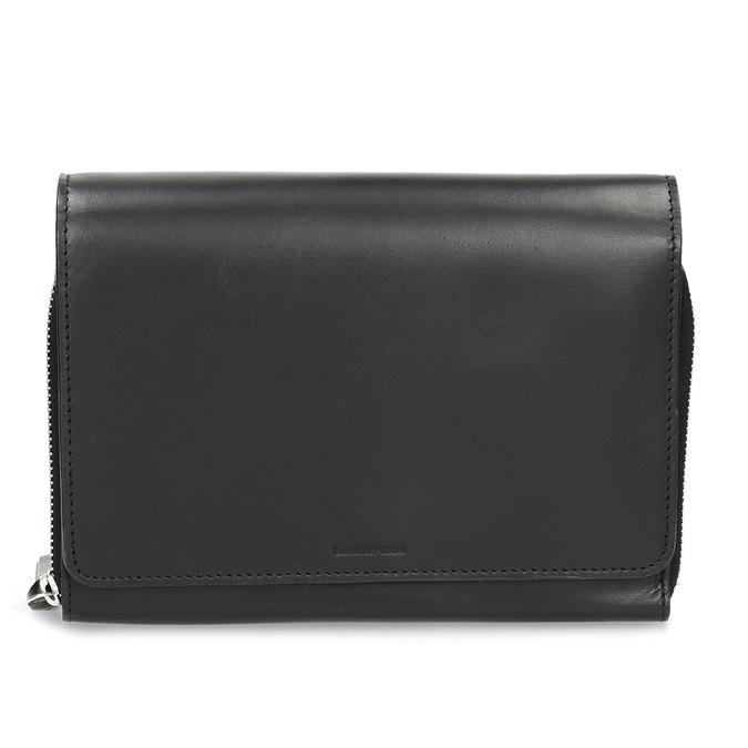 Černá kožená dámská Crossbody kabelka royal-republiq, černá, 964-6346 - 26