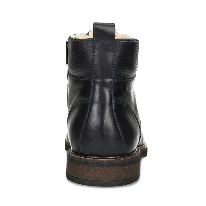 Pánská kožená kotníčková obuv se zateplením bata, modrá, 896-9749 - 15