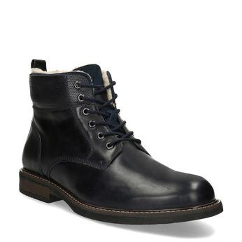 Pánská kožená kotníčková obuv se zateplením bata, modrá, 896-9749 - 13
