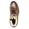 Kožená hnědá kotníčková obuv se zateplením bata, hnědá, 896-3749 - 17