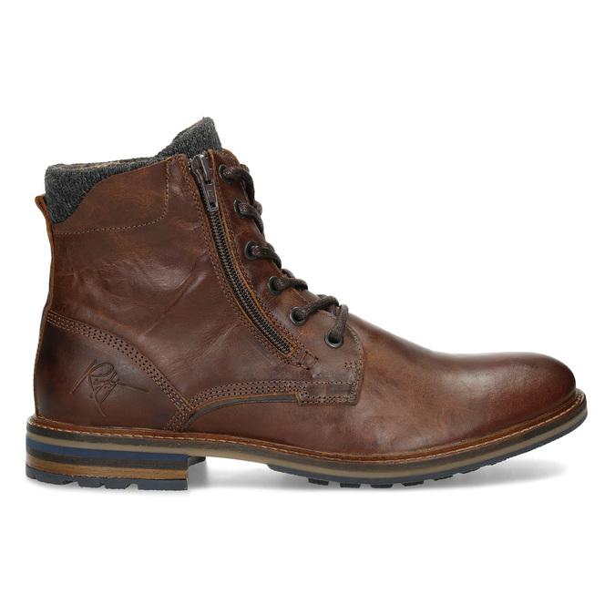 Pánská kožená kotníčková obuv bata, hnědá, 896-4745 - 19