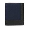 Kožená černá peněženka s modrou částí bata, černá, 944-9622 - 16