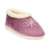 Fialová dámská domácí obuv se zateplením bata, fialová, 579-9641 - 13