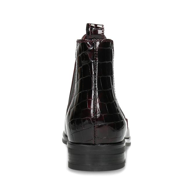 Vínová dámská kožená Chelsea obuv bata, červená, 594-5603 - 15