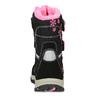 Dětská černá zimní obuv s růžovými detaily mini-b, černá, 491-6668 - 15