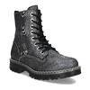 Dámská kožená metalická kotníčková obuv bata-125th-anniversary, černá, 549-6604 - 13