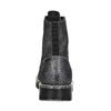 Dámská kožená metalická kotníčková obuv bata-125th-anniversary, černá, 549-6604 - 15