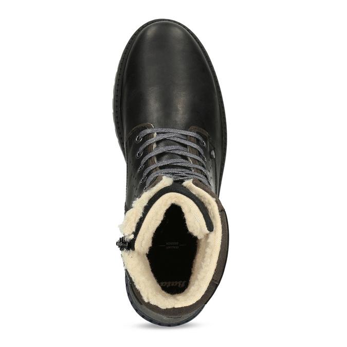 Pánská černá kožená zimní obuv bata, černá, 896-6746 - 17