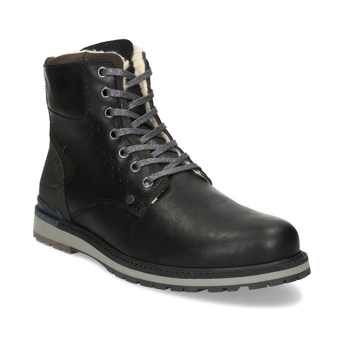 Pánská černá kožená zimní obuv bata, černá, 896-6746 - 13