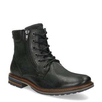 Černá pánská kožená kotníčková obuv bata, černá, 896-6745 - 13