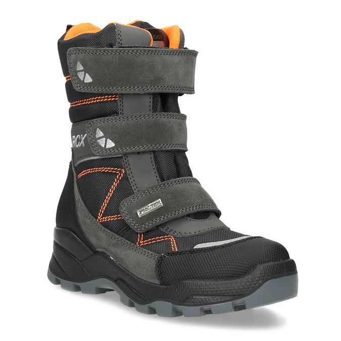 Dětská kožená zimní obuv na suché zipy mini-b, šedá, 299-2623 - 13