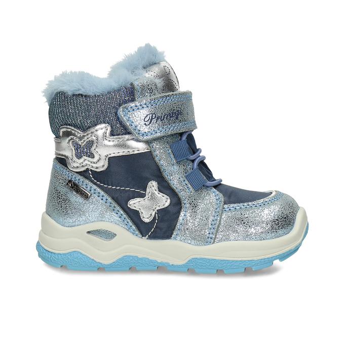 Modrá dětská zimní obuv se stříbrnými detaily primigi, modrá, 199-9614 - 19