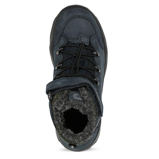 Modrá dětská zimní obuv z broušené kůže primigi, modrá, 416-9645 - 17
