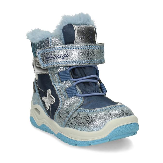 Modrá dětská zimní obuv se stříbrnými detaily primigi, modrá, 199-9614 - 13