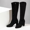 Černé kozačky na stabilním podpatku bata, černá, 699-6606 - 16
