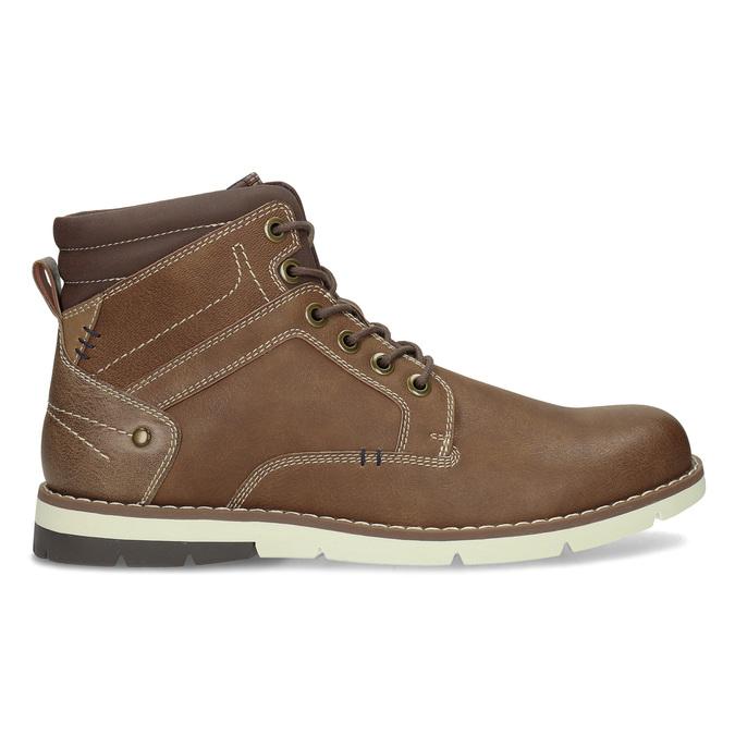 Hnědá pánská kotníčková obuv s prošitím bata-red-label, hnědá, 891-3609 - 19