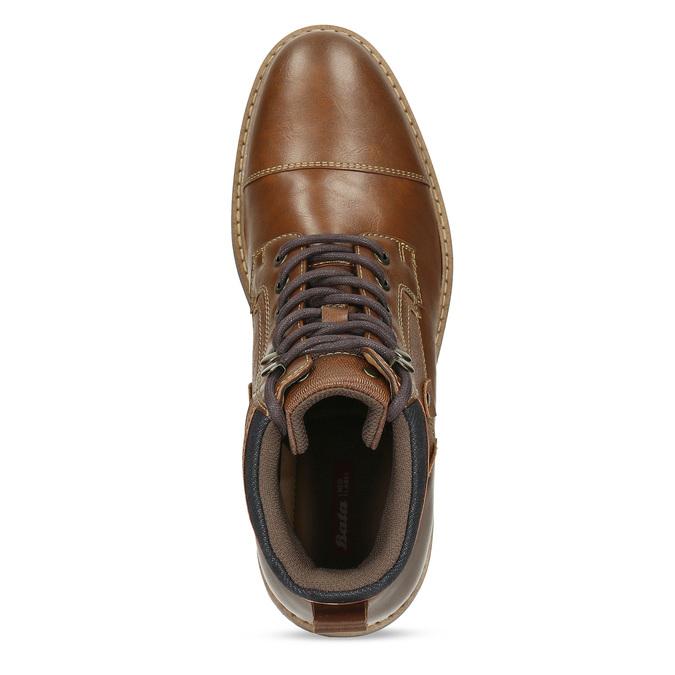 Pánská hnědá kotníčková obuv s prošitím bata-red-label, hnědá, 891-3608 - 17