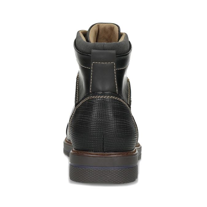 Pánská černá kotníčková obuv s prošitím bata-red-label, černá, 891-6610 - 15