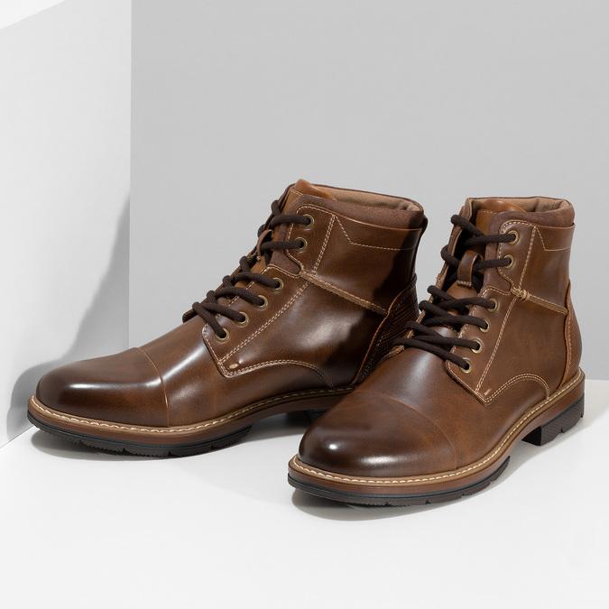 Pánská hnědá kotníčková zimní obuv bata-red-label, hnědá, 891-3610 - 16