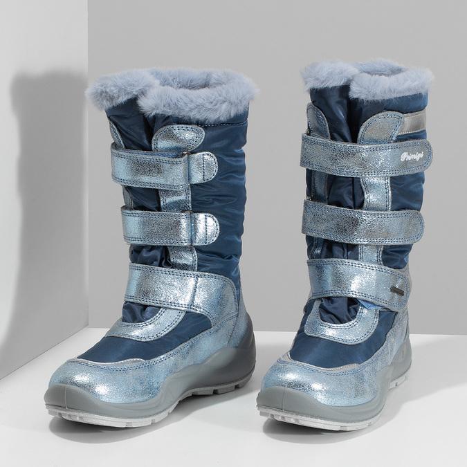 Modré dětské sněhule s metalickými detaily primigi, modrá, 499-9618 - 16