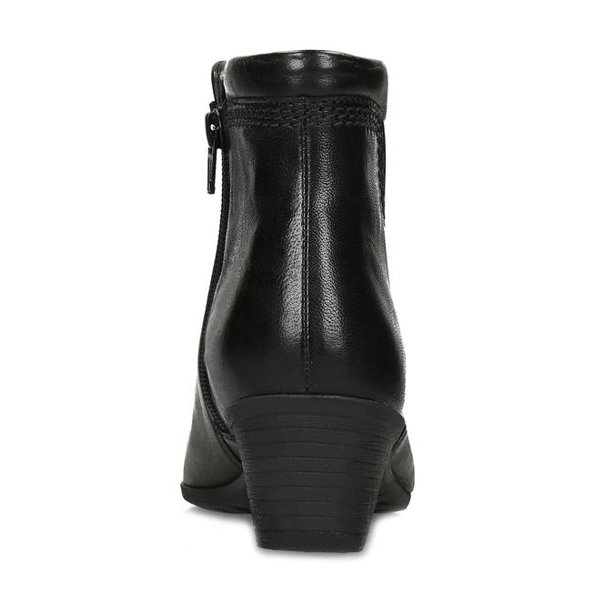 Černé dámské kotníčkové kozačky gabor, černá, 696-6102 - 15