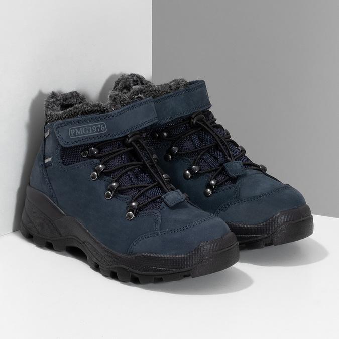 Modrá dětská zimní obuv z broušené kůže primigi, modrá, 416-9645 - 26