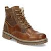 Dětská hnědá kožená kotníčková obuv mini-b, hnědá, 496-3612 - 13