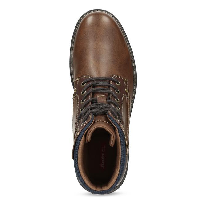 Hnědá pánská kotníčková obuv s prošitím bata-red-label, hnědá, 891-4606 - 17
