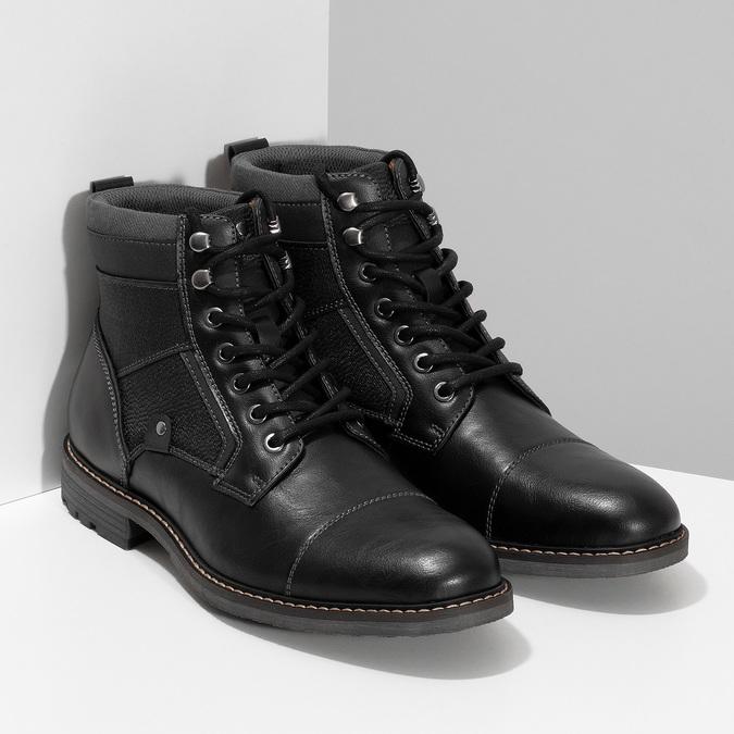 Černá pánská kotníčková zimní obuv bata-red-label, černá, 891-6608 - 26