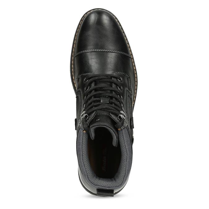 Černá pánská kotníčková zimní obuv bata-red-label, černá, 891-6608 - 17