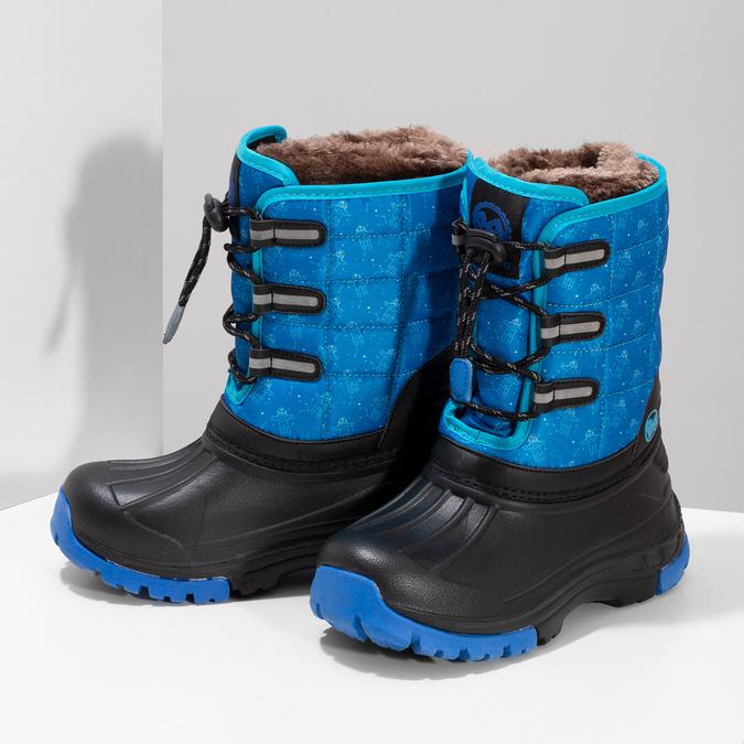 Modré dětské sněhule se zateplením bubblegummers, modrá, 392-9601 - 16