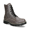Metalická dámská kožená kotníčková obuv bata-125th-anniversary, hnědá, 549-4604 - 13