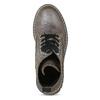 Metalická dámská kožená kotníčková obuv bata-125th-anniversary, hnědá, 549-4604 - 17