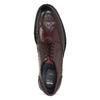Pánské vínové kožené Brogue polobotky bata, červená, 826-5635 - 17