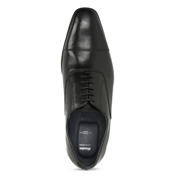 Pánské černé kožené Oxford polobotky bata, černá, 824-6671 - 17