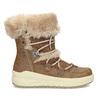 Hnědé dámské zimní sněhule s kožíškem weinbrenner, hnědá, 599-3633 - 19